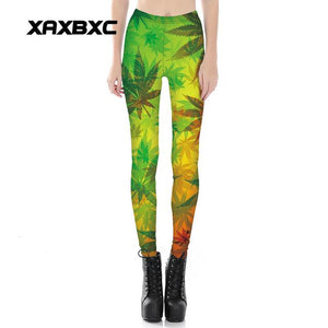 Hot Sexy Weed Pants Pot Gradient Ganja Leggings - Dope Clothes