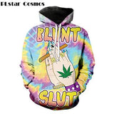 Fabulous Blunt Slut Hoodies Trippy Tie-dye Weed Sweater - Dope Clothes