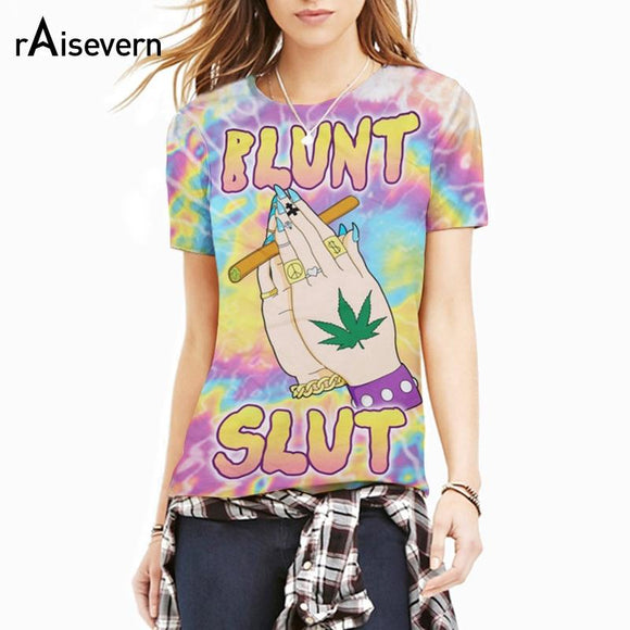 Blunt Slut Unisex 3D Trippy And Psychedelic Tie-Dye T-Shirt - Dope Clothes