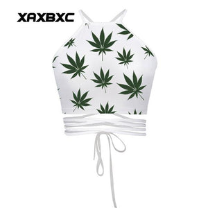 Crop Top Summer Sexy Cannabis Tank Top Belly Shirt - Dope Clothes