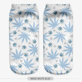 Tiny Leaf Cute 420 Pot Leaf Comfortable Ankle Weed Socks - Dope Clothes