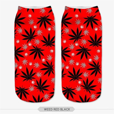 🌱👕 👖socks; $5.79 vs $5.79 Tiny Leaf Cute 420 Pot Leaf Comfortable Ankle Weed Socks
