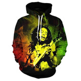 New Hooded Bob Marley 3D Reggae Legend Sweatshirt - Dope Clothes