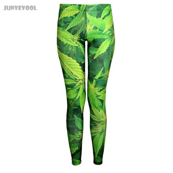 Marijuana / Hemp Plant Leaves 3D Printed Weed Leggings