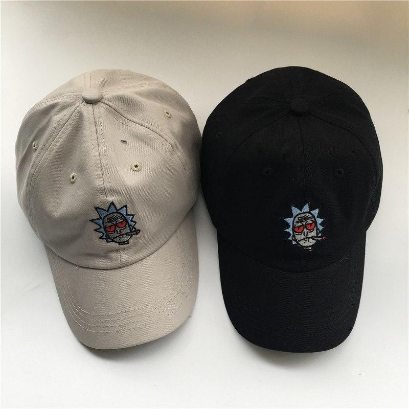 🌱👕 👖Hats; $12.39 vs $12.39 Embroidered Rick and Morty Smokers Ball Cap