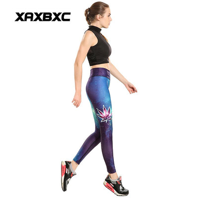 HI-Q Stitch Sexy 420 Space GYM Sport Leggings Weed Galaxy Weed Yoga Leggings - Dope Clothes