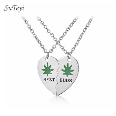Best Buds Charm Weed Leaves Charm Necklaces - Dope Clothes