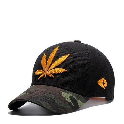 New Embroidery Pot Leaf Weed Snapback Hat - Dope Clothes