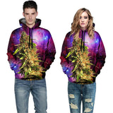 Hooded BUD Coral Galaxy Print 3D Canna Hoodie - Dope Clothes
