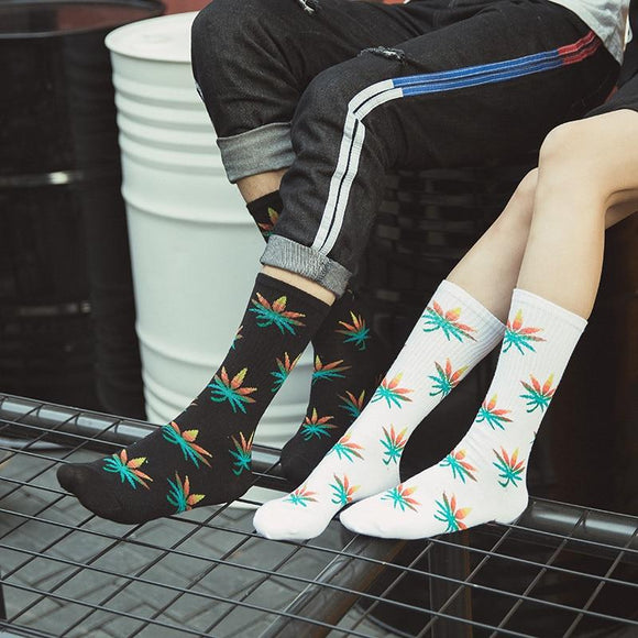 Psychedelic Trippy Shrooms and Weed Cotton Socks - Dope Clothes