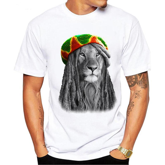 Rasta Lion Summer Special Fashion King Jamaica Lion withDreads T Shirt - Dope Clothes
