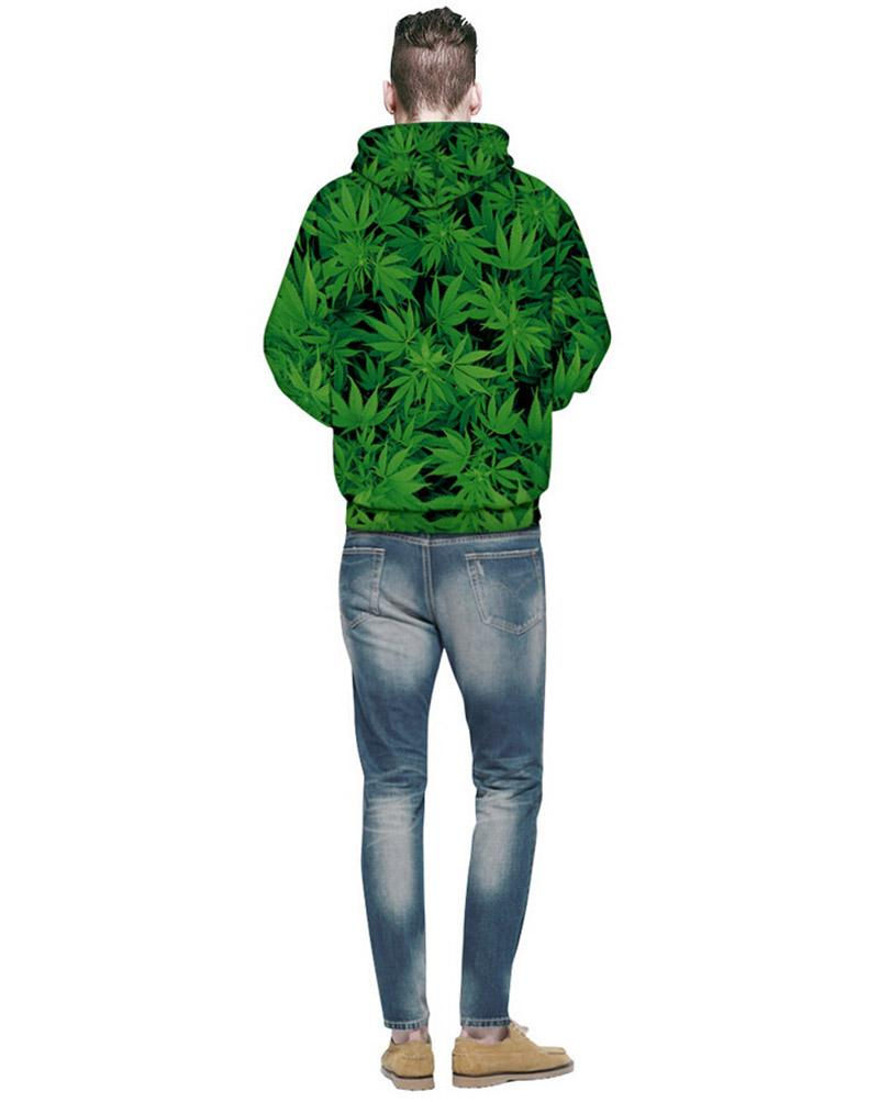 🌱👕 👖sweaters; $38.86 vs $38.86 Hooded Sweatshirt Weed and Flower Print 3D Hoodie