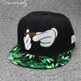 New Mickey Smoker Snapback Cap - Dope Clothes