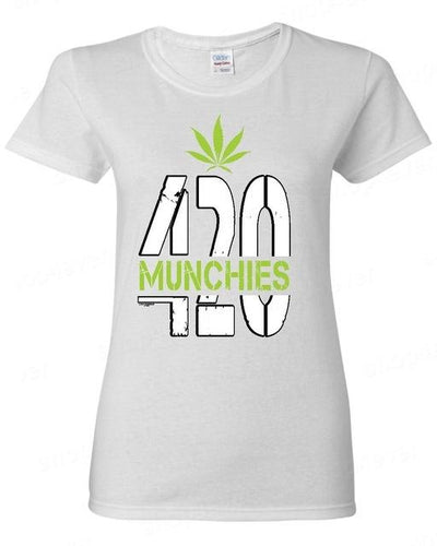 🌱👕 👖T; $32.39 vs $32.39 420 Munchies Female Stoner Weed Leaf Woman Funny T-Shirt