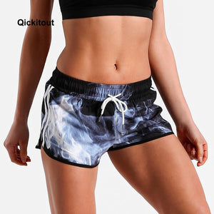 Sexy 420 Mini Smokers Workout Draw String Women's Stoner Workout Shorts - Dope Clothes