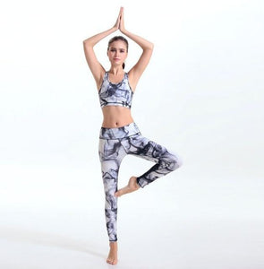 Black Smoke Women's Yoga Fitness Stretch Leggings - Dope Clothes