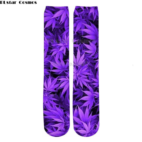 Free shipping Purple Ganja Purple Kush Socks - Dope Clothes
