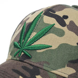 Hot Embroidery Weed Leaf Hats For Adults 420 Stoner Nation - Dope Clothes
