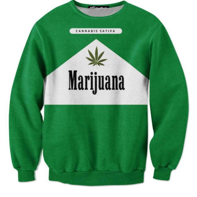 🌱👕 👖sweaters; $35.39 vs $35.39 Dope Fashion Men/Women 420 Long Sleeve Cannabis Sativa Sweater