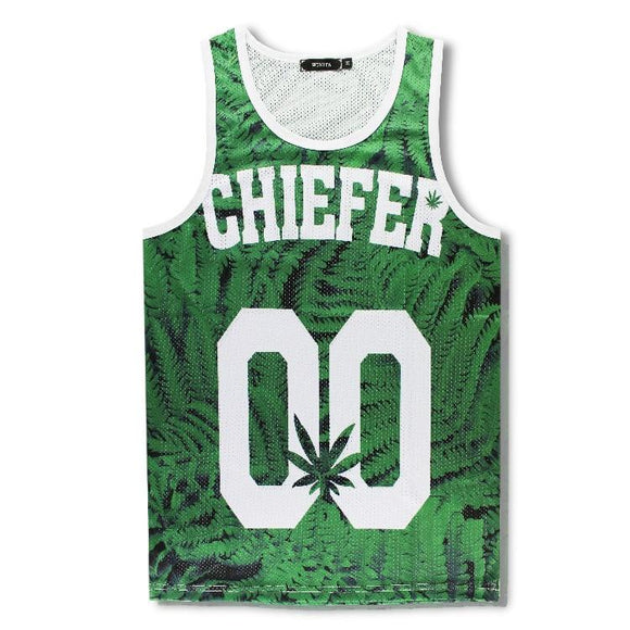 00 Green Weed Leaf 3D Print Tank Top Jersey