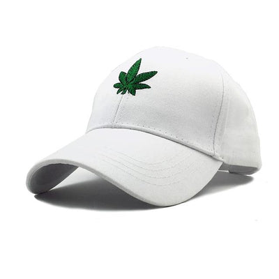 New Mini Weed Leaf Embroidered White or Black Weed hat