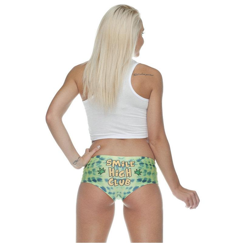 Women 3D Print Underwear Smile High Club Funny Ladies Underwear