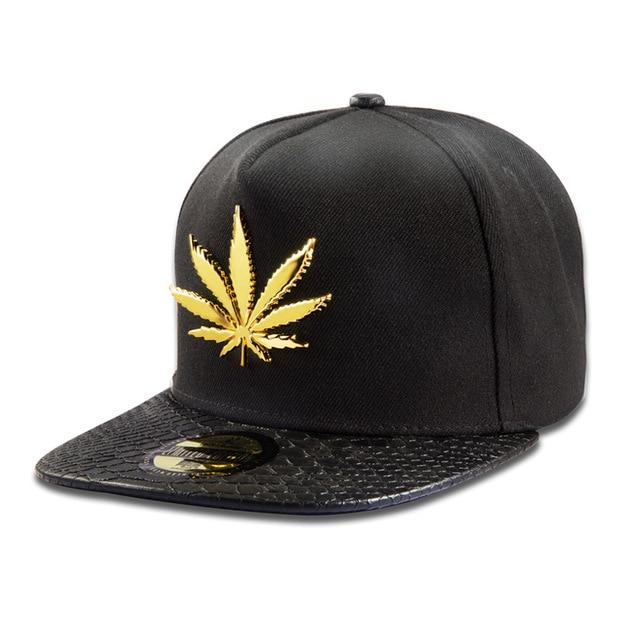 🌱👕 👖Hats; $27.39 vs $27.39 Golden Pot Leaf Camouflage Snapback Hat