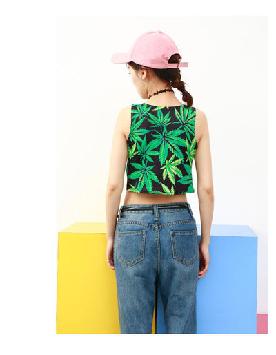 Summer Fashion Hip-Hop Dance Crop Top - Dope Clothes