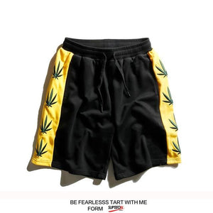 Weed Printed Elastic Waist Shorts Cannabis Themed Workout Shorts - Dope Clothes