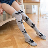 2019 Weed Thigh High Sexy 420 Stockings Weed Printed Knee High Socks - Dope Clothes
