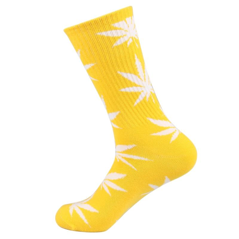 5 Pack - Cotton Colorful and Vibrant Happy Weed Leaf Socks - Dope Clothes
