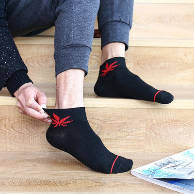 Cool Casual Thin Weed Leaf Cotton Socks - Dope Clothes