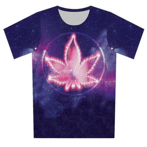 Sci-fi 420 Space Colorful Weed Galaxy Tshirt - Dope Clothes
