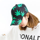 Luxury Cannabis Green Leaves Print Fashion Cap