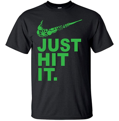 Adult Men's Nike Parody Funny Just Hit It Shirt - Dope Clothes