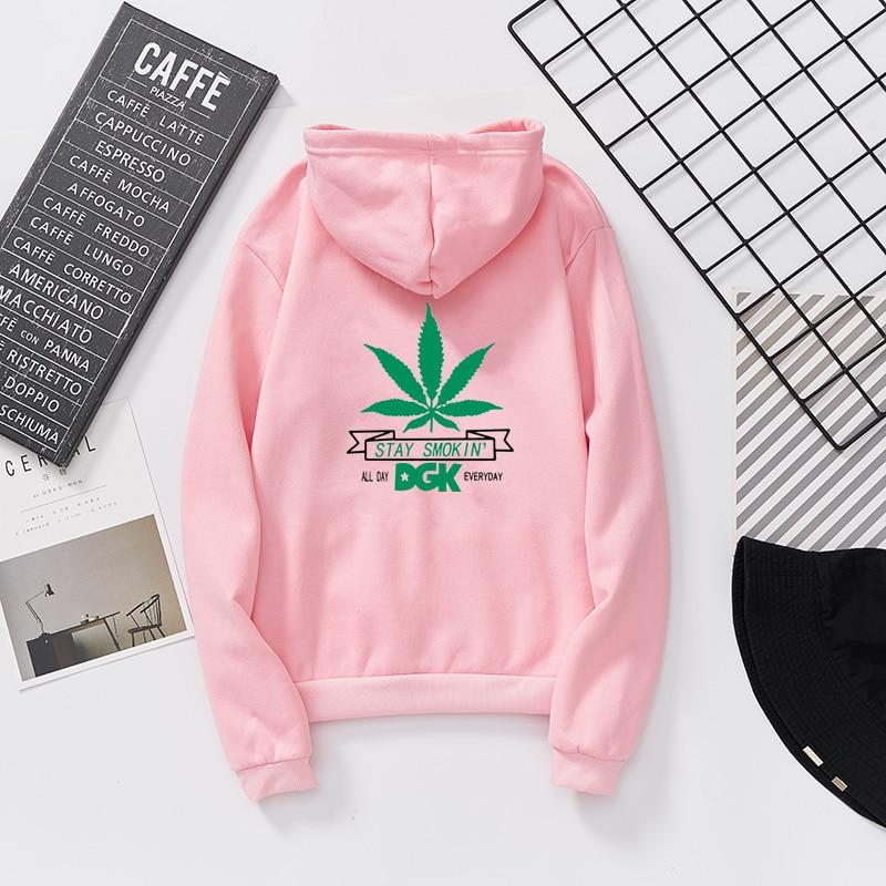 Women Thin Weed Stay Smoking Long Sleeve Weed Hoodies - Dope Clothes