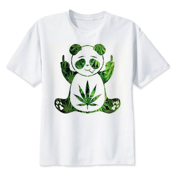 The 420 Panda Mens Short Sleeve T-shirt - Dope Clothes
