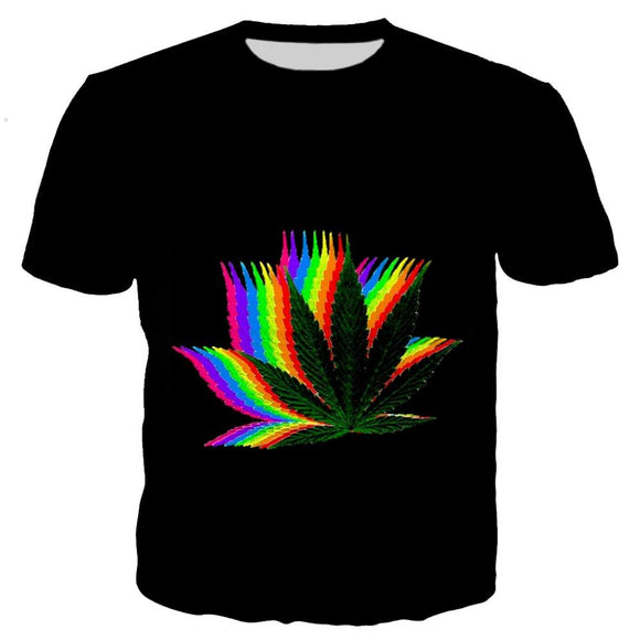 Cosmos Trippy Rainbow Weed Colorful Shirt - Dope Clothes