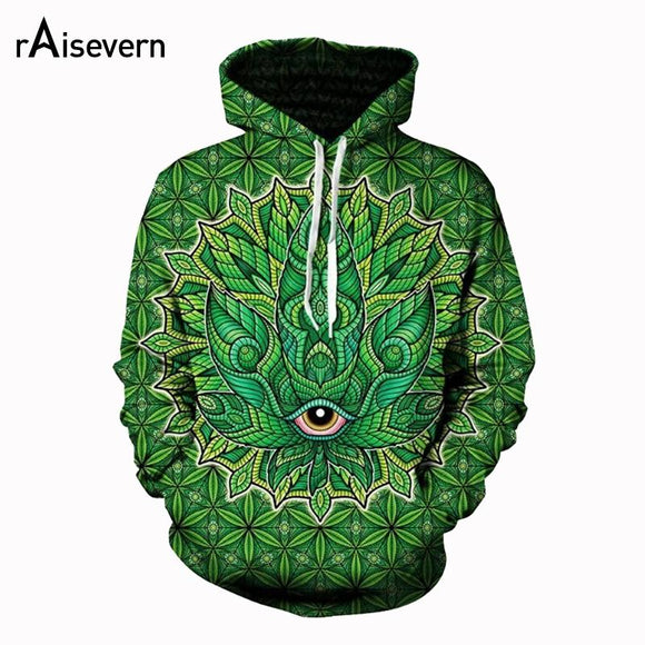 Psychedelic Weed 3D Print Trippy Hoodies - Dope Clothes