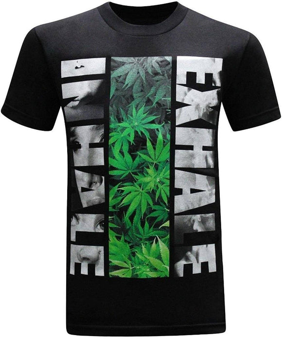 Inhale Exhale 420 Pot Weed Men's Short Sleeves  T-Shirt - Dope Clothes