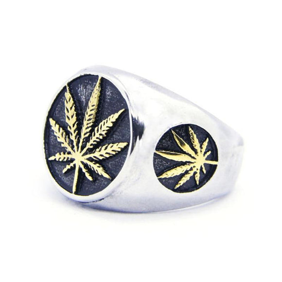 Newest Marijuana Leaf Themed Kush Jewelry Dank Ring