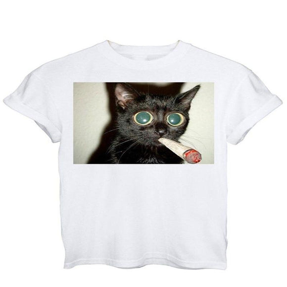 Blunt Cat T Shirt - Dope Clothes