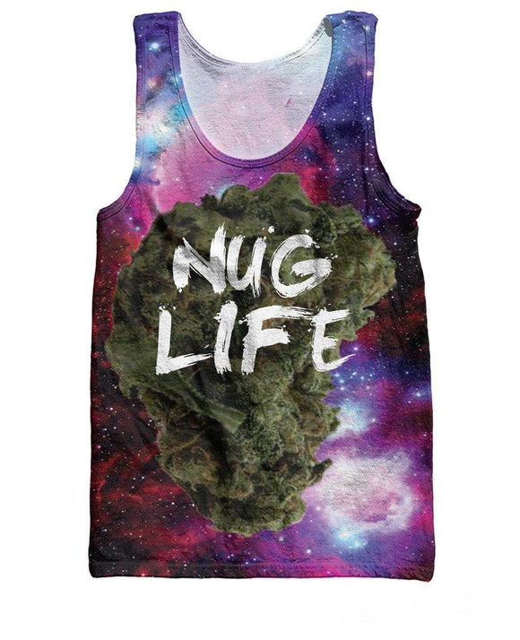 Women 3D Starry Space Nug Life Tank Top - Dope Clothes
