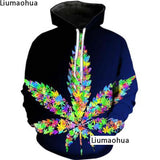 Cannabis Leaf Hoodie Colorful Sweatshirt - Dope Clothes