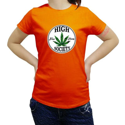 Fashion Women Weed High Society Summer T Shirt - Dope Clothes