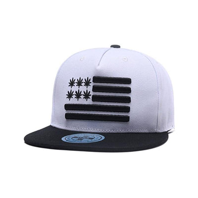 420 USA Cannabis Weed Leaves Snapback - Dope Clothes