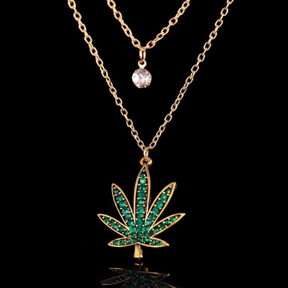 New Smoking Tree Leaf 420 Plant Leaf Necklace - Dope Clothes