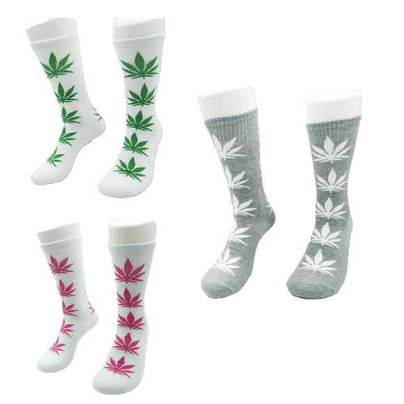 Fashion Marijuana Leaf Fashion Weed Long Socks - Dope Clothes