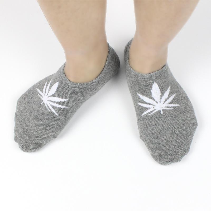 1 Pair Pot Leaf Printed Socks Casual Thin Cannabis Socks - Dope Clothes