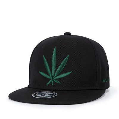 Flatbill Snapback 710  Pot Embroidered Cannabis Cap - Dope Clothes